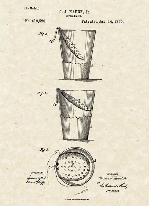 julep strainer patent